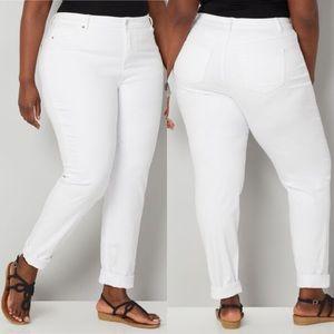 AVENUE premium stretch white jeans size 18 Average